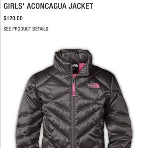 The North Face girls Aconcagua jacket